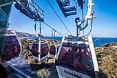 Cable car to Taormina, Sicily, South Italy, Italy