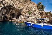 Grotta Azzurra of Taormina Mare, Sicily, South Italy, Italy
