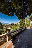 Giardini della Villa Comunale of Taormina, Sicily, South Italy, Italy