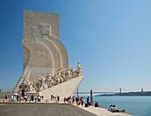 Lisboa - Belém, Memorial Padrao dos Descombrimentos, Rio Tejo, District Lisboa, Portugal, Europe