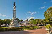 Lisboa - Belém, Column in Praca Alfonso de Albuquerque, Palácio de Belém, Rio Tejo, District Lisboa, Portugal, Europe