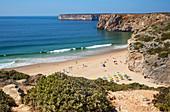 Sand beach Praia Beliche near Sagres, District Faro, Algarve, Portugal, Europe