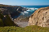 Steep coast at Porto Covo, District Setubal, Alentejo, Portugal, Europe