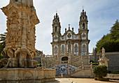 Lamego, Nossa Senhora dos Remédios, Fountain at the Pátio dos Reis, Double staircase, Pilgrims' church, District Viseu, Douro, Portugal, Europe