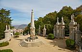 Lamego, Nossa Senhora dos Remédios, Fountain at the Pátio dos Reis, Pilgrims' church, District Viseu, Douro, Portugal