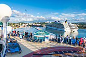 Cruise ships in port, Saint John´s, Antigua and Barbuda, Caribbean, Lesser Antilles