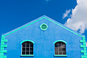 Blue House, Old Town, Bridgetown, Barbados, Caribbean, Lesser Antilles
