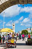Chamberlain Bridge, Clock Tower, Parliament Building, Bridgetown, Barbados, Caribbean, Lesser Antilles