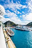 Port, cruise ships, Philipsburg, St. Martin, Caribbean, Lesser Antilles