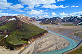 Rhyolite mountains in the Landmannalaugar region of Iceland, Europe