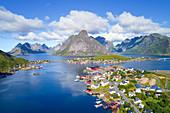 The fishing village of Reine on Moskenesoya island in Lofoten, Norway, Europe
