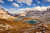 Piani mountain lakes, Sexten, South Tyrol, Italy, Europe