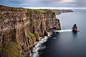 View at O´Briens Tower atop Cliffs of Moher, County Clare, Wild Atlantic Way, Ireland, Europe
