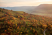 Landscape around Teck castle, Kirchheim Teck,  Biosphere Reserve, Swabian Alb, Baden-Wuerttemberg, Germany