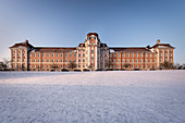 Baroque monastry of Wiblingen surrounded with snow, nearby Ulm, Baden-Wuerttemberg, Germany