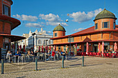 Market hall at Olhao, Nature reserve Ría Formosa, District Faro, Region of Algarve, Portugal, Europe