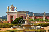 Terrasse Patamar da Casa do Presépio, Palácio de Estói, Rokoko - Nachbau, Pousada, Estói, Distrikt Faro, Region Algarve, Portugal, Europa