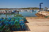 Harbour at Alvor near Portimao, Nature reserve, Reserva Natural da Ría do Alvor, District Faro, Region of Algarve, Portugal, Europe