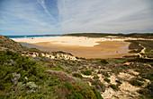 Bordeira beach near Carrapateira, Parque Natural do Sudoeste Alentejano e Costa Vicentina, Atlantic Ocean, District Faro, Region of Algarve, Portugal, Europe