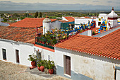 View onto the roofs of Serpa, District Beja, Region of Alentejo, Portugal, Europe