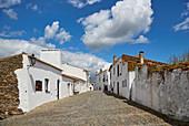 Street in the village of Monsaraz, District Évora, Region of Alentejo, Portugal, Europe