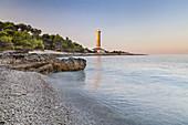 Leuchtturm Veli Rat auf der Insel Dugi Otok, Zadar, Norddalmatien, Dalmatien, Kroatien, Südeuropa, Europa