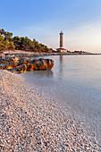 Leuchtturm Veli Rat auf der Insel Dugi Otok, Veli Rat, Zadar, Norddalmatien, Dalmatien, Kroatien, Südeuropa, Europa