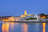Altstadt von Krk auf der Insel Krk, Kvarner Bucht, Primorje-Gorski kotar, Nordkroatien, Kroatien, Südeuropa, Europa