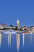 Harbour and old town of Rab, island Rab, kvarner bay, Mediterranean Sea, Primorje-Gorski kotar, North Croatia, Croatia, Southern Europe, Europe