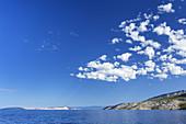 Blick auf die Insel Rab, Primorje-Gorski kotar, Kvarner Bucht, Kroatien, Südeuropa, Europa