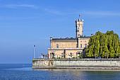 Castle Montfort on lake Constance, Langenargen, Swabia, Baden-Wuerttemberg, South Germany, Germany, Central Europe, Europe