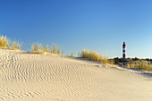 Lighthouse in the dunes on the North Frisian Island Amrum, Nebel, North Sea, Schleswig-Holstein, Northern Germany, Germany, Europe