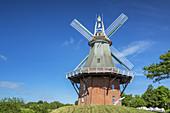 Windmill of Greetsiel, North Sea, East Frisia, Lower Saxony, Northern Germany, Germany, Europe