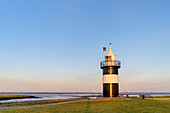 Lighthouse Kleiner Preusse in the harbour of Wremen, North Sea, East Frisia, Lower Saxony, Northern Germany, Germany, Europe