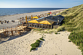 Restaurant Wonnemeyer at the beach in Wenningstedt, North Frisian Island Sylt, North Sea coast, Schleswig-Holstein, Northern Germany, Germany, Europe
