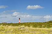 Lighthouse in the dunes in Hörnum, North Frisian Island Sylt, North Sea coast, Schleswig-Holstein, Northern Germany, Germany, Europe