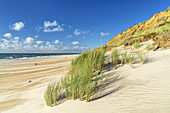 Beach Rotes Kliff in Kampen, North Frisian Island Sylt, North Sea coast, Schleswig-Holstein, Northern Germany, Germany, Europe