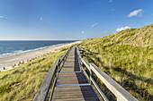 Weg zum Strand, Wenningstedt, Insel Sylt, Nordfriesland, Schleswig-Holstein, Norddeutschland, Deutschland, Europa