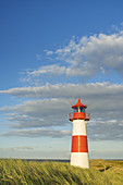 Lighthouse List Ost on the peninsula Ellenbogen, List, North Frisian Island Sylt, North Sea coast, Schleswig-Holstein, Northern Germany, Germany, Europe