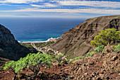 Blick von Las Pilas auf Valle Gran Rey und El Hierro, Las Pilas, La Gomera, Kanarische Inseln, Kanaren, Spanien