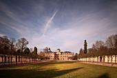 Views over the park at castle Schloss Favorite Rastatt in autumn, Baden-Württemberg, Germany