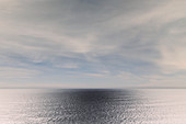 Inverted image of vast ocean, sky and horizon, Oswald West State Park, Manzanita, Oregon