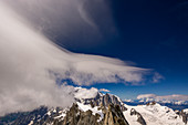 Foehn clouds over Mont Blanc, Mont Blanc group, France