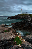 summer cloudy sunset at Fanad Head Lighthouse, country Donegal, Ulster province, north west Ireland, Ireland, Europe