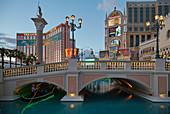 Las Vegas mit The Venetian und Hotels, Nevada, USA