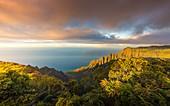 Na Pali coast State Wilderness area, north western side of Kauai island, Hawaii, USA