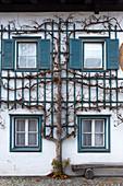Ein typisches Detail der Tiroler Häuser. Europa, Österreich, Stubaital, Telfes im Stubai, Provinz Innsbruck