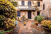 A farmhouse near Montepulciano, Siena Province, Italy
