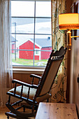Rocking chair inside a typical house, Hamnoy, Nordland, Lofoten Islands, Norway