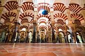 Decorated archways and columns in Moorish style, Mezquita-Catedral (Great Mosque of Cordoba), Cordoba, Andalusia, Spain